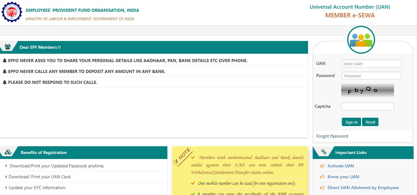 Change name and mobile number in EPF